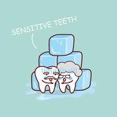 Senior citlivé zuby s ledem