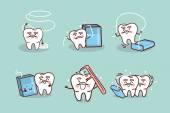 Senior tooth use dental floss