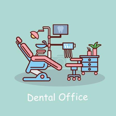 cartoon dental office