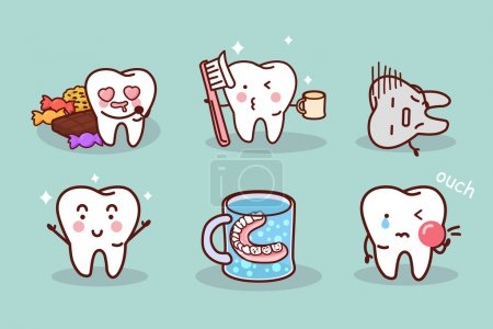 Cute cartoon tooth brush and clean, great for heal...