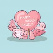 Happy organ family