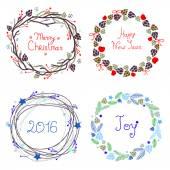 Christmas holiday vector wreaths