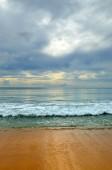 Beautiful beach with blue sky at Mai khao beach, Phuket, Thailand