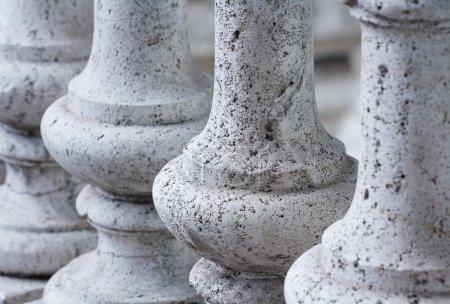 Ancient stone balustrade  Rome Italy