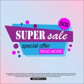 Super Sale Banner Design Super Sale Vector Tag Banner can use for promotion