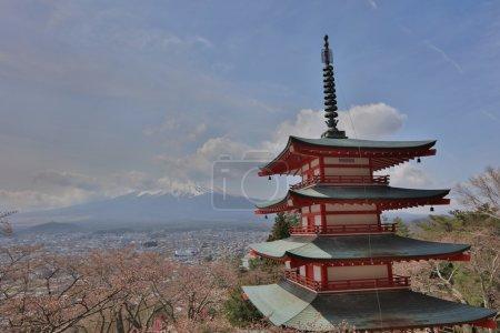 Chureito Pagoda at Arakura Sengen Shrine