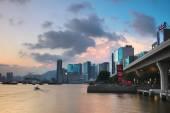 sunset at kwun tong Promenade