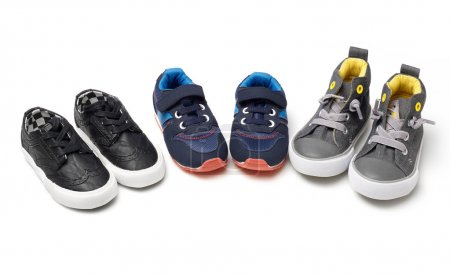 Kids shoes on white