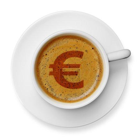 Euro symbol on coffee