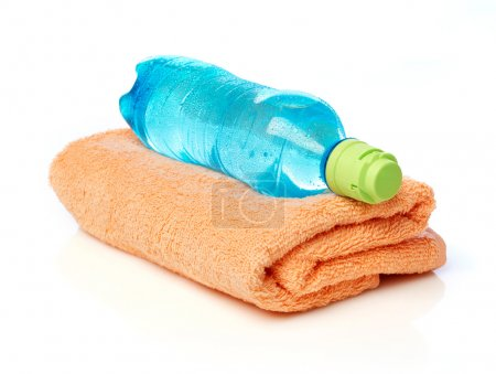 Water bottle and towel