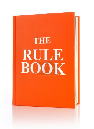 Photo for The rule book, white background - Royalty Free Image