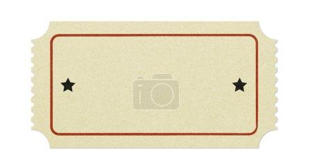 Photo pour Vieux billet blanc isolé sur blanc - image libre de droit
