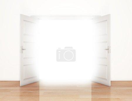 Open doors with light