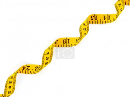Tape measure on white