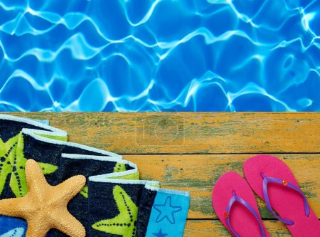 Swimming time background