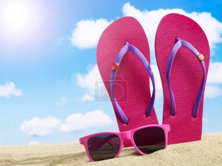 Flip-flops and sunglasses