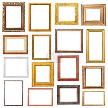 Photo for Picture frames variation on white background - Royalty Free Image