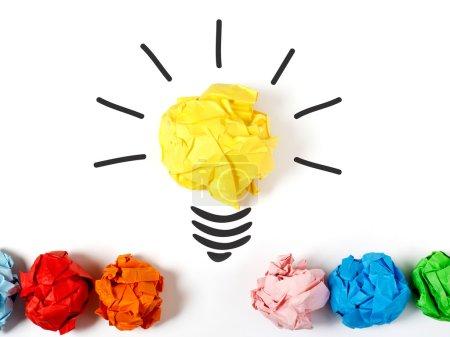 Light bulb representing a good idea