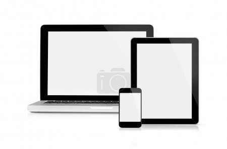 Laptop tablet and mobile phone