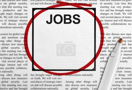 Photo pour Titre d'emploi dans Journal avec fond - image libre de droit