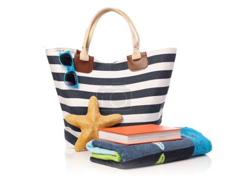 Beach bag and leisure items