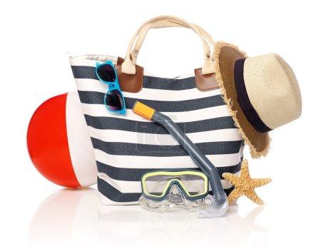 Summer bag on white
