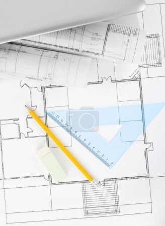 Blueprints project on the desk
