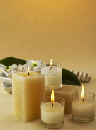 Spa candles concept