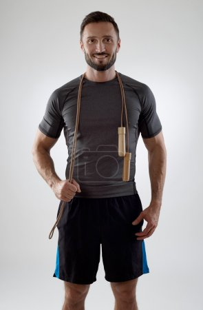Trainer with jump rope
