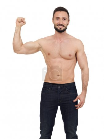 Muscular man isolated