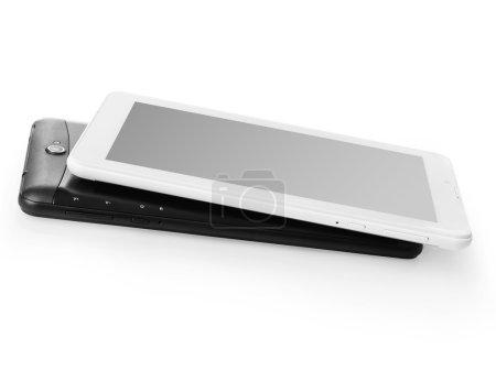Digital tablets on white
