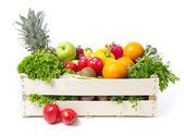 A gyümölcs- és zöldségtermelő láda