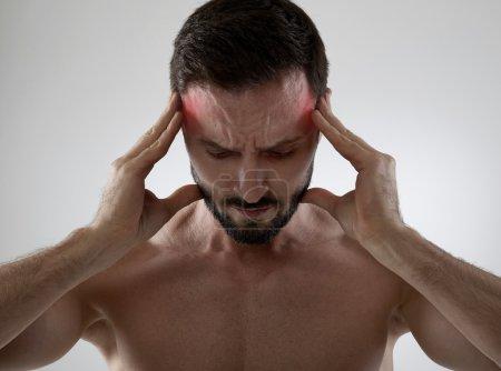 Headache, gray background