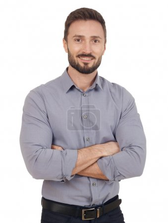 Photo for Cheerful businessman looking at camera - Royalty Free Image
