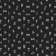 Abstract seamless grunge pattern of Elder Futhark ...