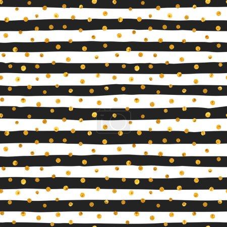 Seamless pattern of random gold dots.