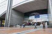 Belgien, Januar 2016. Das Europäische Parlament in Brüssel, die wichtigsten Gebäude