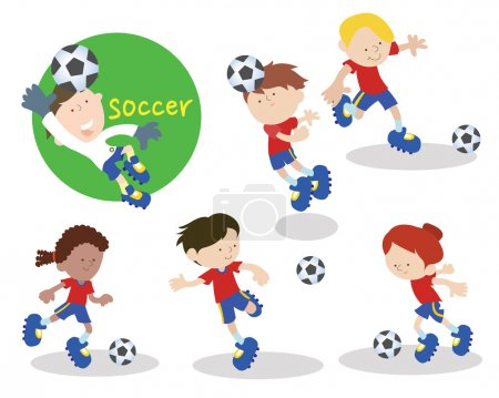 Soccer players are practicing 1