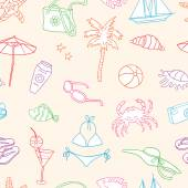 pattern of beach holiday
