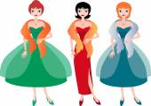 women in evening dresses