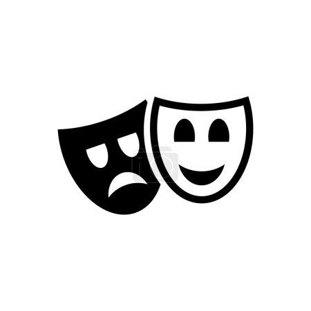 Illustration pour Masque théâtre image vectorielle - image libre de droit