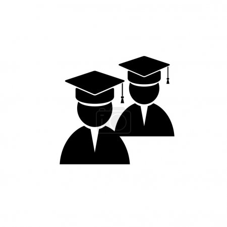 Cap, student, two vector image...