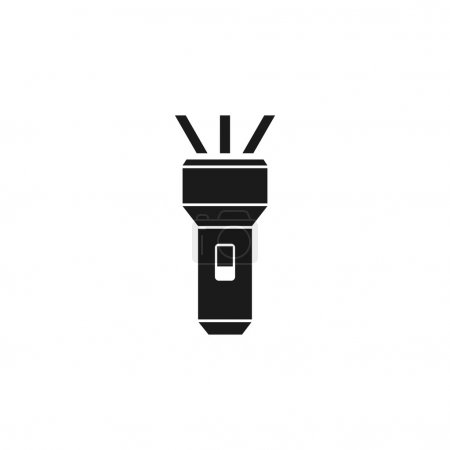 Illustration for Flashlight icon vector image - Royalty Free Image