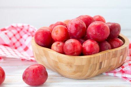 Fresh red plum, cherry plum