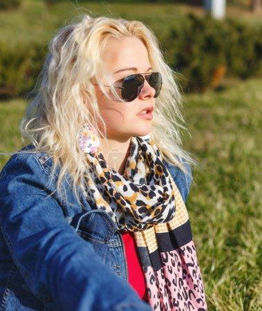 Beauty Romantic Girl Outdoor. Beautiful Teenage Model in Fashion