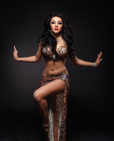 Beautiful belly dance movement