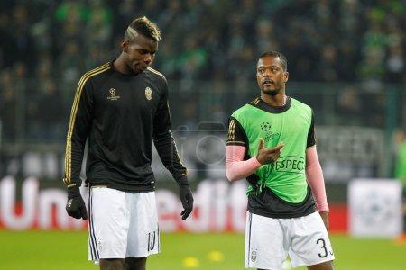 Paul Pogba and Patrice Evra Juventus Turin