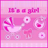 Děti pohlednice pro dívku při narození