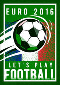 Euro 2016 France football championship with ball and france flag colors Coarseness texture
