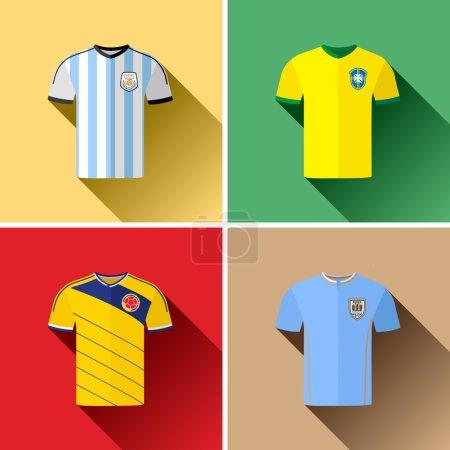 South America Football Jersey Set